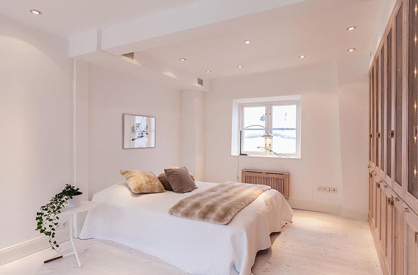 Двуетажен апартамент в Стокхолм - спалня
