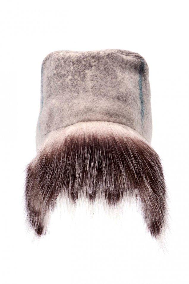 Пухена шапка ушанка missoni зима 2012