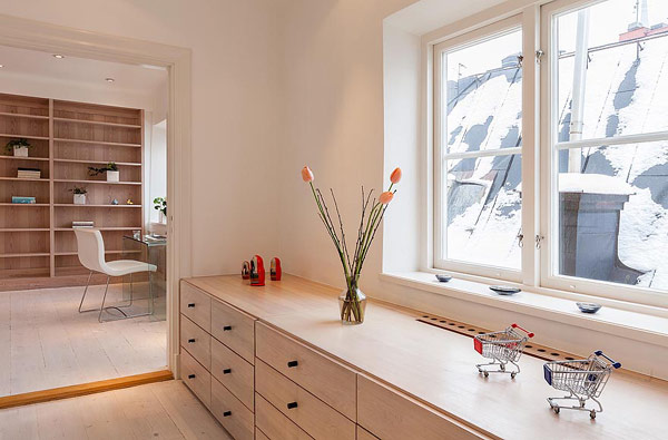 Двуетажен апартамент в Стокхолм - кабинет