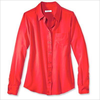 Equipment Shirt Ежедневна риза в червено