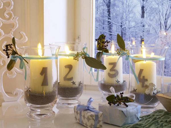 Коледна украса със свещи - направи си сам