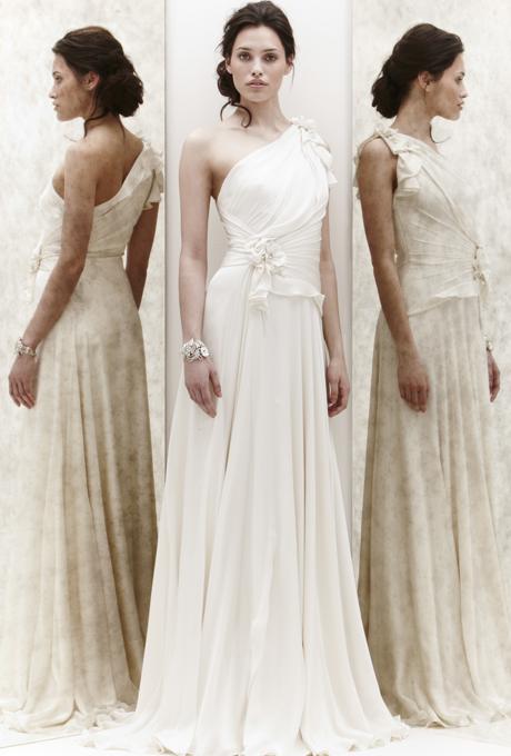 Булчинска рокля с едно голо рамо JEnny Packham 2013
