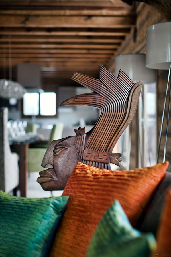 Дъбова хижа с изглед към Мон Блан декор