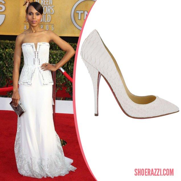Кери Уошингтън носеше елегантни обувки Christian Louboutin на Наградите на Гилдията на екранните актьори.