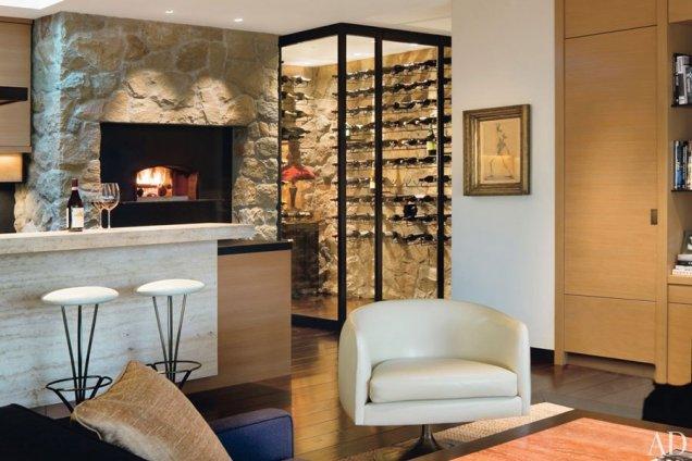 Стая за вино до кухненския към - къщата на Анистън