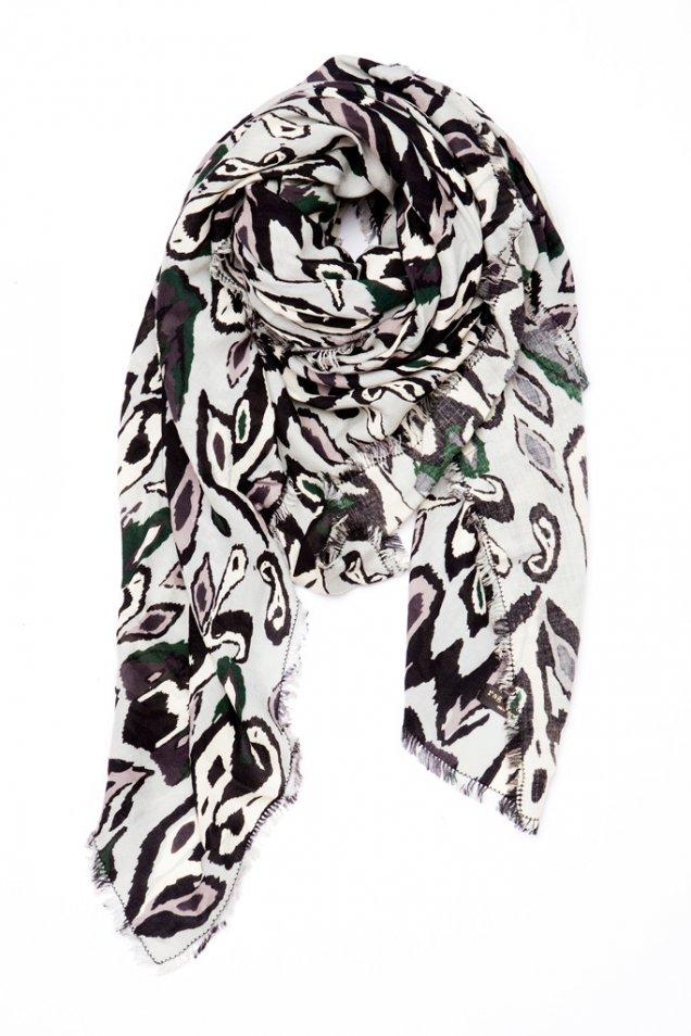 Черно-бял шал Rag and Bone есен зима 2012