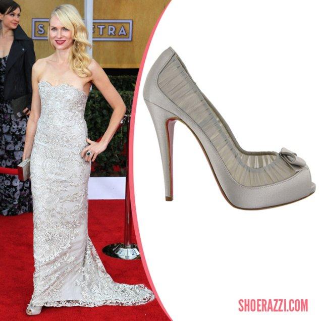 Наоми Уотс носеше Christian Louboutin обувки за Наградите на Гилдията на екранните актьори.