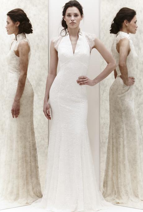 Булчинска рокля по тялото със семпло деколте Jenny Packham 2013