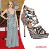 Джулия Стайлс също носеше сандали Jerome C. Rousseau на Наградите на Гилдията на екранните актьори.