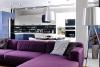 Модерен апартамент в Одеса - дневна и кухня