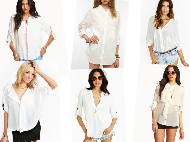 Бяла риза с къси панталонки