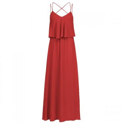 Секси червена рокля с гол гръб 2015