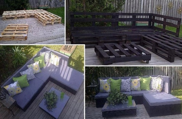 Градински мебели от дървени палети