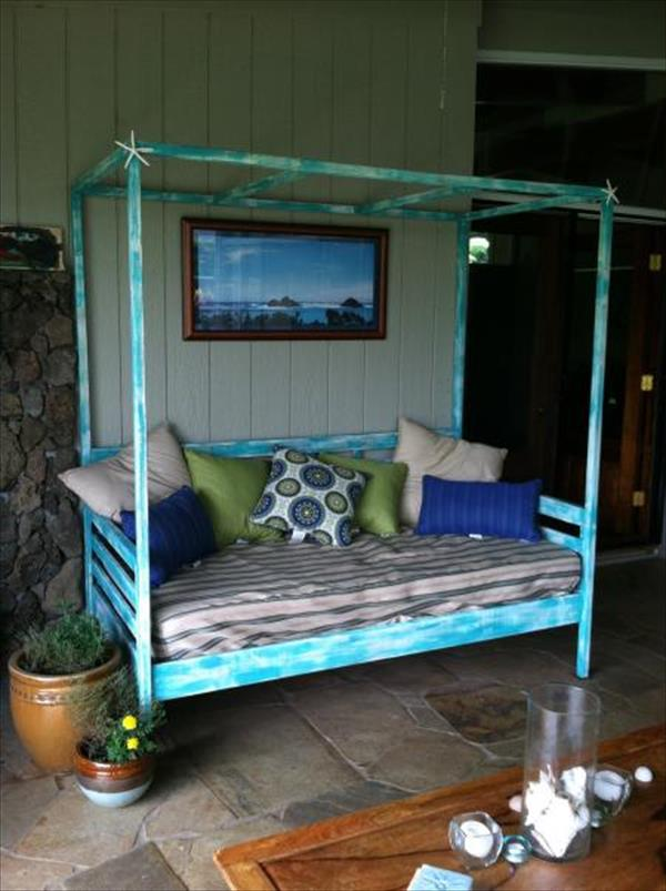 Градинско легло от палети