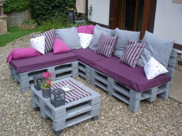 Мебели за градината от дървени палети