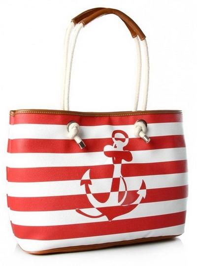 Плажна чанта с котва в червено лято 2015