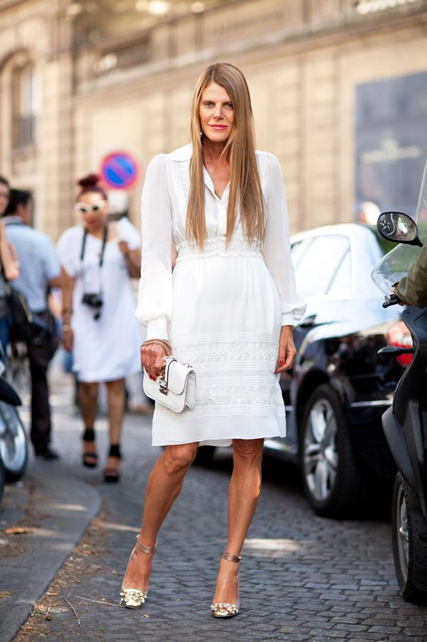 Бяла рокля с дълъг ръкав лято 2015