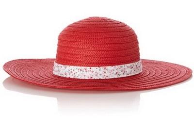 Сламена шапка в червено за лято 2015