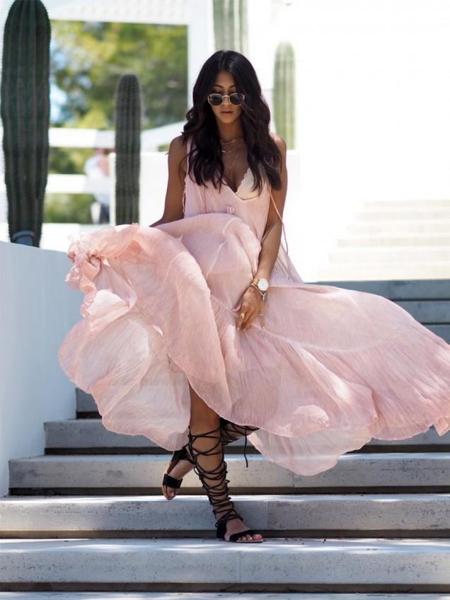 Модерна дълга рокли за лято 2015