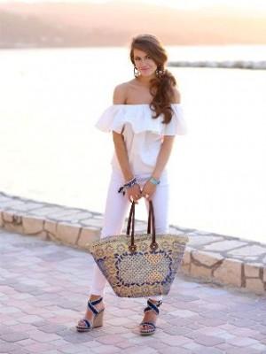 Цветна сламена чанта лято 2015