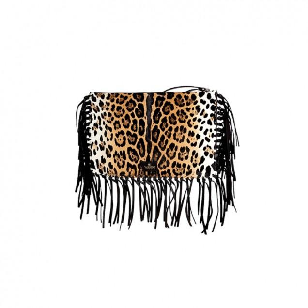 Леопардова чанта с ресни есен 2015