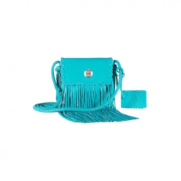 Синя чанта с ресни есен 2015
