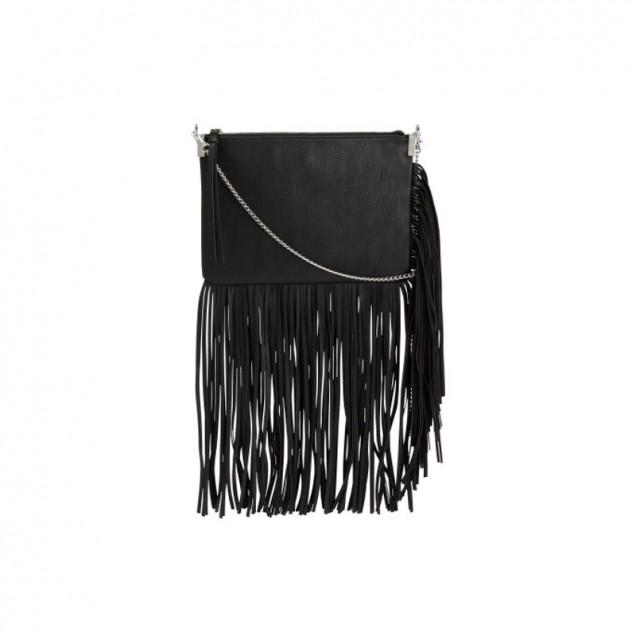 Черна чанта с дълги ресни есен 2015