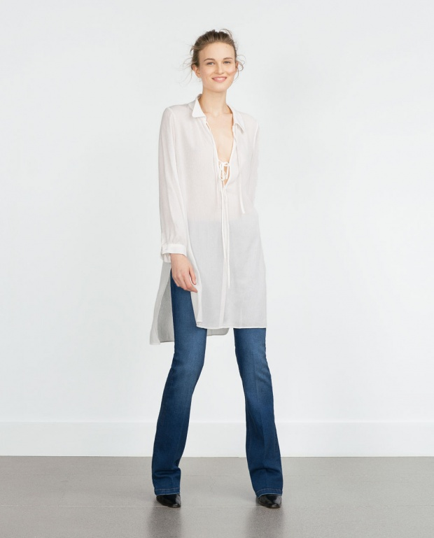 Ефирна бяла риза/туника от Зара 2015