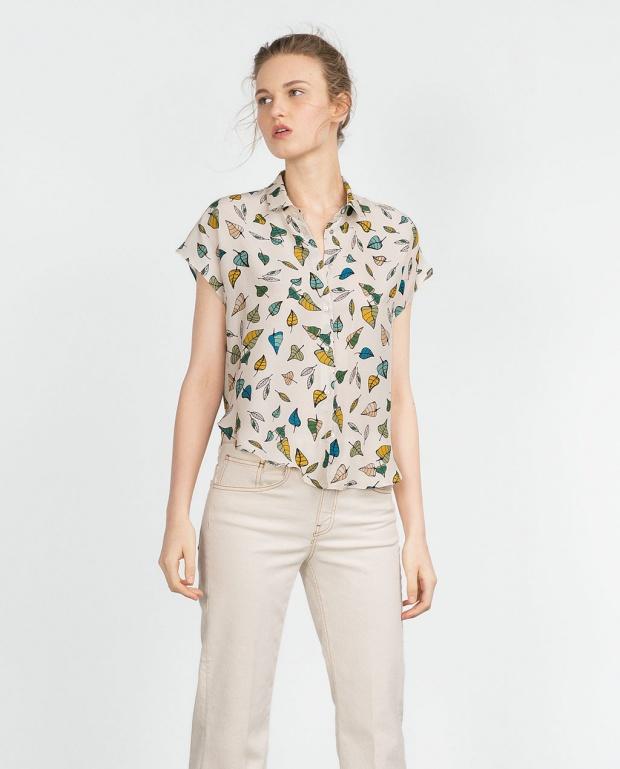 Модерна риза с принт - Зара есен/зима 2015
