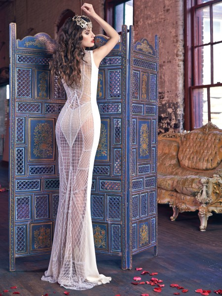Уникална прозрачна сватбена рокля 2016
