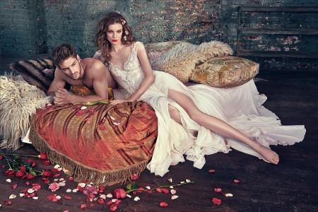 Сватбена рокля с дълбоки цепки 2016