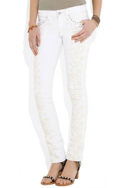 Бели джинси по крака