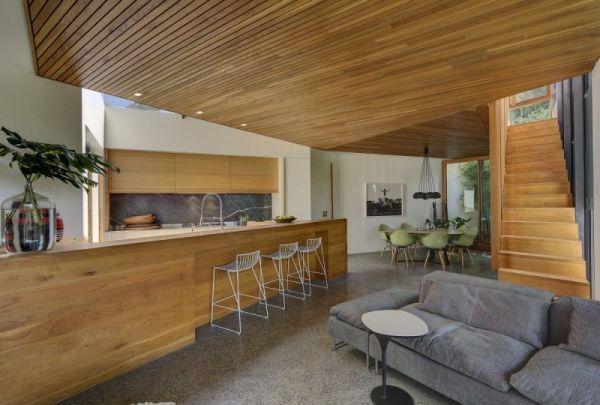 Къща в Австралия - дневна и кухня