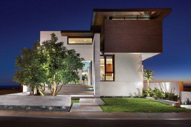 Резиденция Странд в Калифорния - нощен изглед