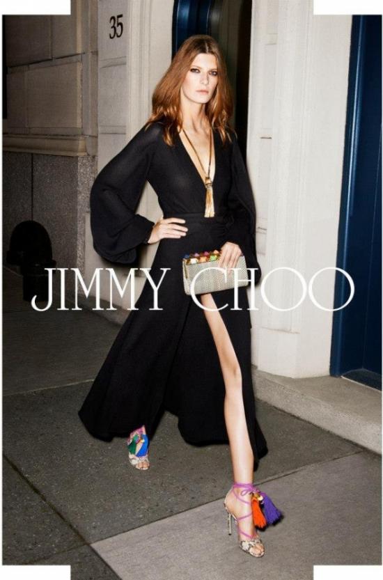 Стилна рокля от Jimmy Choo кампания пролет/лято 2013