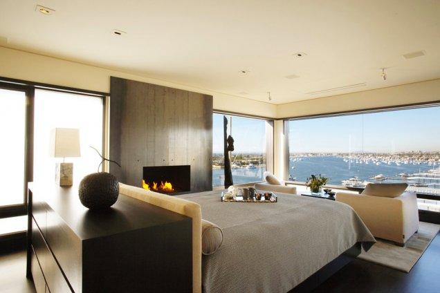 Луксозен апартамент в КАлифорния - спалня