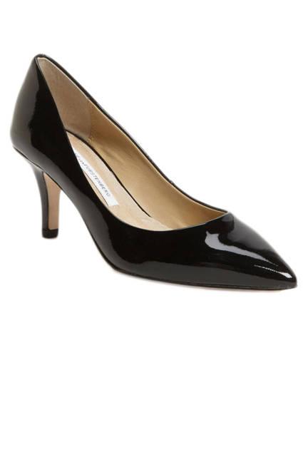 Diane Von Furstenberg Anette Pumpс Черни обувки с нисък ток