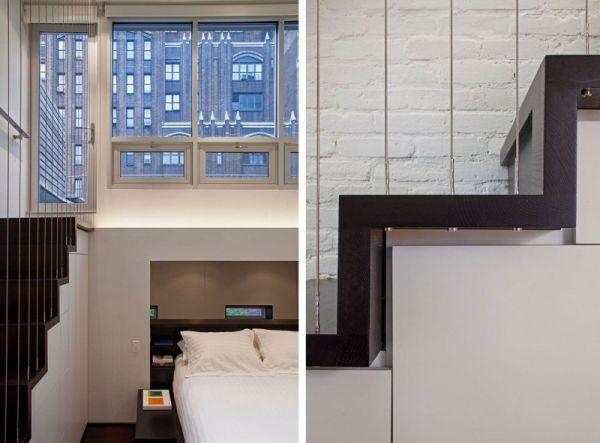 Малка мансарда в Манхатън - креативна спалня