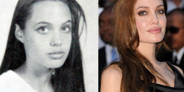 Анджелина Джоли в ранните си години и сега