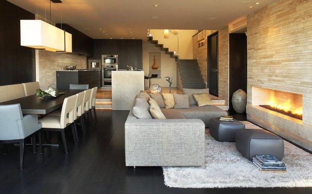 Луксозен апартамент в КАлифорния - елегантен дизайн