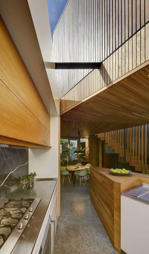 Къща в австралия - дървен бар масив