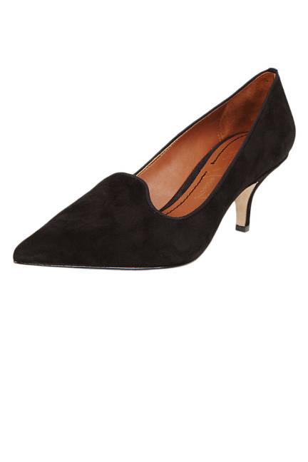 Elizabeth and James Clark Pointed-Toe Suede Smoking-Slipper Pumps Обувки с нисък ток