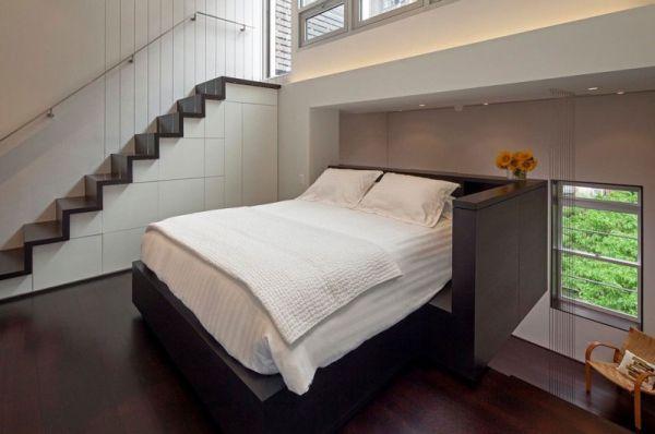 Малка мансарда в Манхатън - компактна спалня