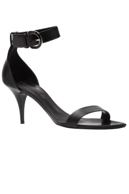 Proenza Schouler Kitten Heel Sandal Черен сандал с нисък ток