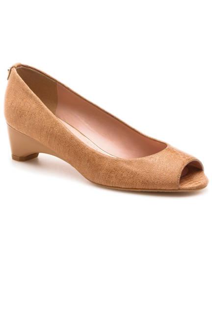 Stuart Weitzman Logosavior Open-Toe Heels Обувки с отворени пръсти