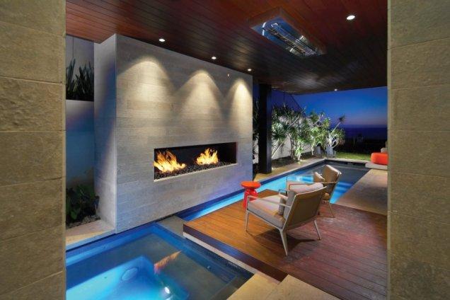 Резиденция Странд в Калифорния - вътрешни басейни
