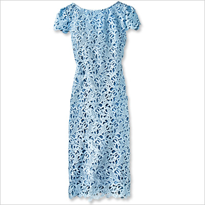 Alice   Olivia by Stacey Bendet Dress Дантелена рокля в синьо