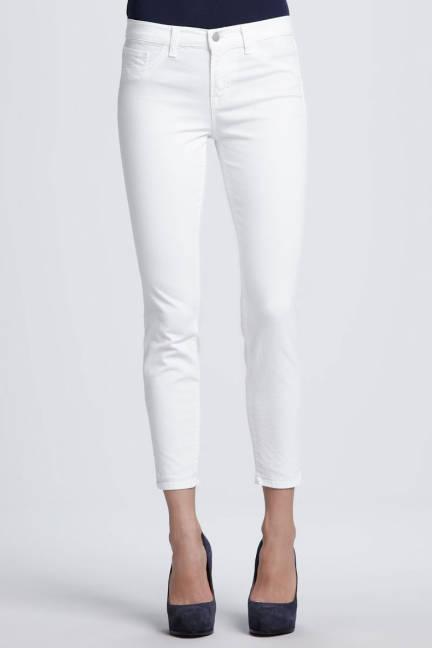 Бели джинси над глезена