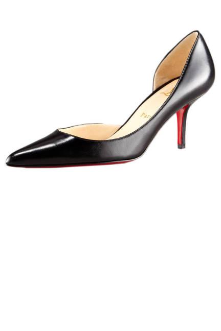 Christian Louboutin Mid-Heel Pumps Черни обувки с нисък ток