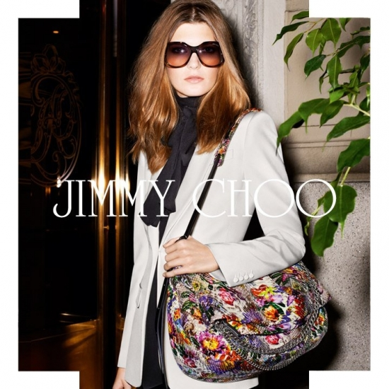 Дамско облекло със стилна чанта от Jimmy Choo кампания пролет/лято 2013